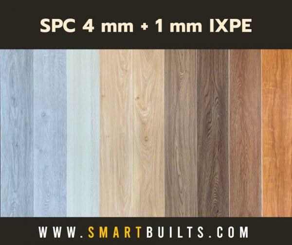 SPC ลายไม้ 4 mm + IXPE 1.0 mm